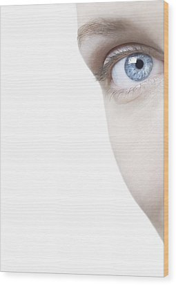 Woman's Eye Wood Print by