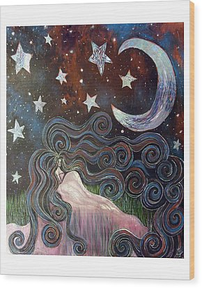 Wonder Of Night Wood Print by Monica Furlow