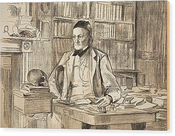 1883 Richard Owen's Study Ex Bmnh Wood Print by Paul D Stewart