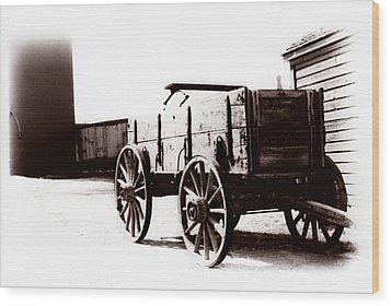 1900 Wagon Wood Print by Marcin and Dawid Witukiewicz