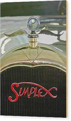 1916 Crane-simplex Model 5 Seven-passenger Touring Hood Ornament Wood Print by Jill Reger