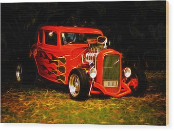 1932 Ford Coupe Hot Rod Wood Print by Phil 'motography' Clark