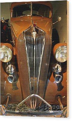 1936 Hudson 64 De Luxe 8 Sedan Wood Print by Wingsdomain Art and Photography
