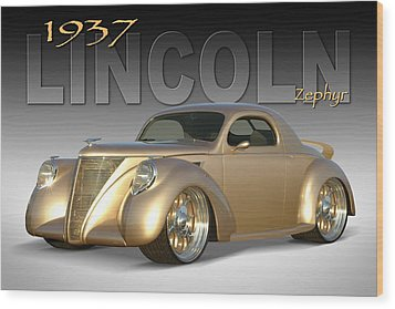1937 Lincoln Zephyr Wood Print by Mike McGlothlen