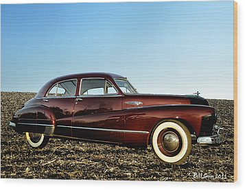 1948 Buick Eight Super Wood Print by Bill Cannon