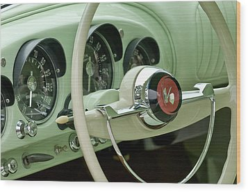 1954 Kaiser Darrin Steering Wheel Wood Print by Jill Reger