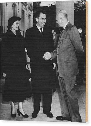 1954 Us Presidency.  Us President Wood Print by Everett