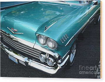 1955 Chevy Belair Front End Wood Print by Paul Ward