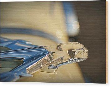 1955 Pontiac Star Chief Hood Ornament  Wood Print by Gordon Dean II