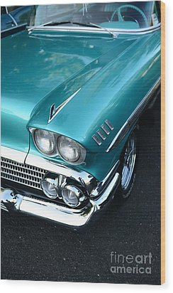 1958 Chevy Belair Front End 01 Wood Print by Paul Ward