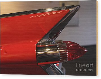 1959 Cadillac Convertible - 7d17386 Wood Print by Wingsdomain Art and Photography