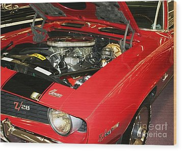 1969 Z-28 Crossram With 9737 Copo Option Wood Print by John Black