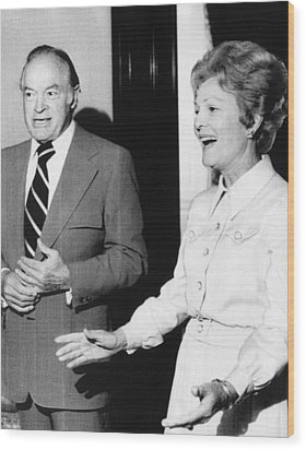 1973 Us Presidency.  Bob Hope And First Wood Print by Everett