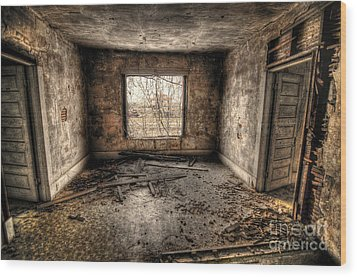Abandoned Wood Print by Miguel Celis