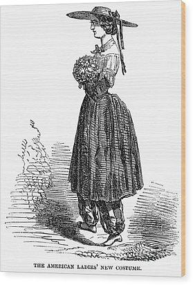 Amelia Bloomer (1818-1894) Wood Print by Granger