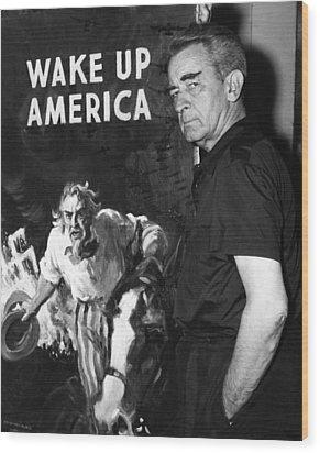 American Artist And Cartoonist James Wood Print by Everett