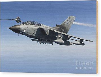 An Italian Air Force Tornado Ids Wood Print by Gert Kromhout