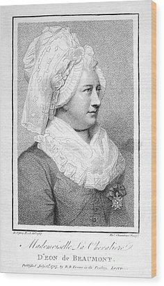 Charles Deon De Beaumont Wood Print by Granger