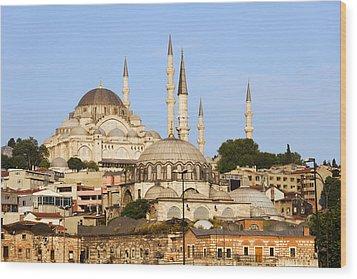City Of Istanbul Wood Print by Artur Bogacki