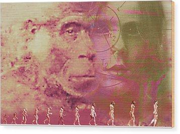 Evolution Wood Print by Hans-ulrich Osterwalder