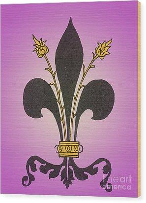 Fleur-de-lis Wood Print by Science Source