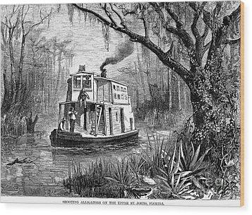 Florida: St. Johns River Wood Print by Granger
