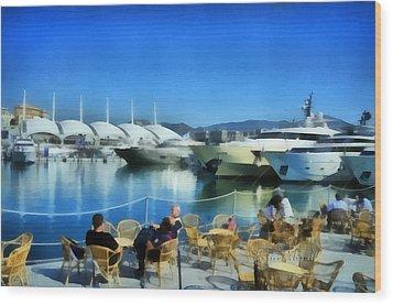 Genova Salone Nautico Internazionale - Genoa Boat Show Wood Print by Enrico Pelos