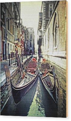 Gondolas Wood Print by Joana Kruse