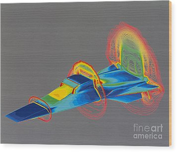 Hyperx Hypersonic Aircraft Wood Print by Science Source