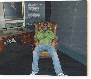 I Barry R Jones Jr Will Now Be The Poster Boy For Jeffery Johnson Regional Pools  Regional Stucco Wood Print by Barry R Jones Jr