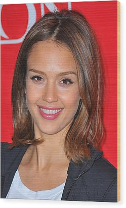 Jessica Alba At A Public Appearance Wood Print by Everett