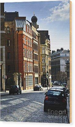 London Street Wood Print by Elena Elisseeva
