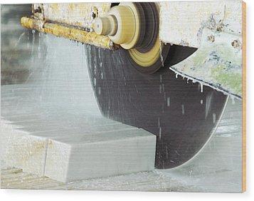 Marble Quarrying Wood Print by Ria Novosti