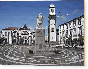 Ponta Delgada Wood Print by Gaspar Avila