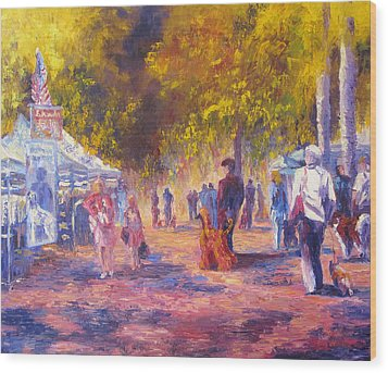 Promenade Wood Print by Terry  Chacon