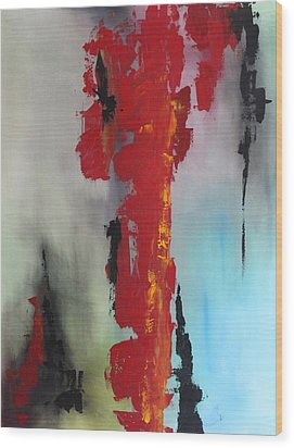 Rojo Wood Print by Eric Chapman