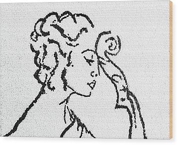 Woman Wood Print by Natalya A