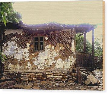 230 Years Old House Wood Print by Romeo Popescu