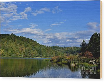 Big Ditch Lake Wood Print by Thomas R Fletcher