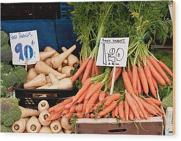 Carrots Wood Print by Tom Gowanlock