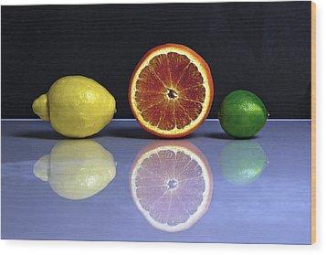 Citrus Fruits Wood Print by Joana Kruse
