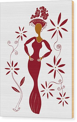 Fashion Illustration Wood Print by Frank Tschakert