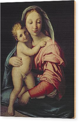 Madonna And Child Wood Print by Il Sassoferrato
