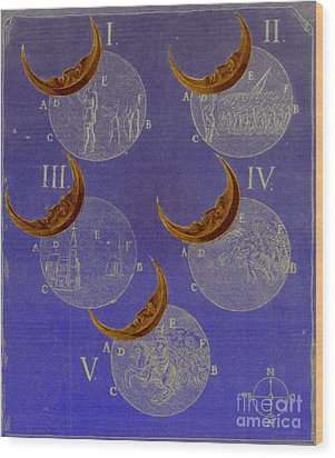 Phases Of An Eclipse Wood Print by Science Source