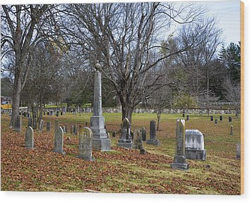 Pleasant Forest Cemetery Wood Print by Paul Mashburn