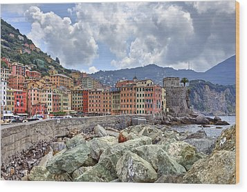 Port Of Camogli Wood Print by Joana Kruse