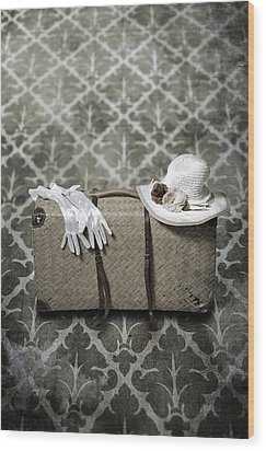 Suitcase Wood Print by Joana Kruse