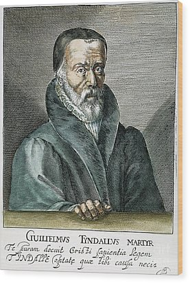 William Tyndale (1492?-1536) Wood Print by Granger