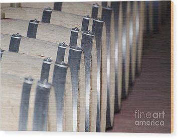 Wine Barrels Wood Print by Mats Silvan