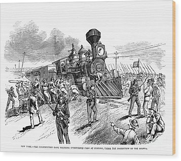 Great Railroad Strike, 1877 Wood Print by Granger